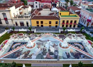 Alfombra del Corpus Plaza del Ayuntamiento 2019