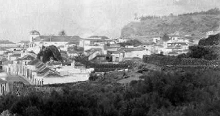 Panorámica del Puerto de la Cruz de finales del siglo XIX (detalle)