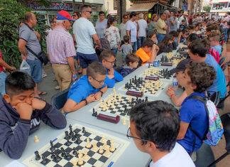 Torneo de ajedrez celebrado en la Plaza del Charco