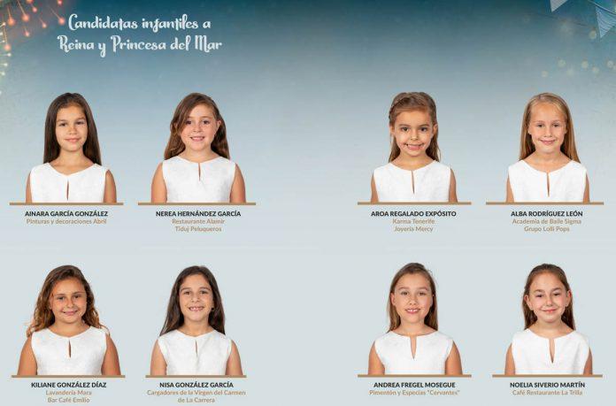 Candidatas Reina y Princesa del Mar infantiles Fiestas del Carmen 2019