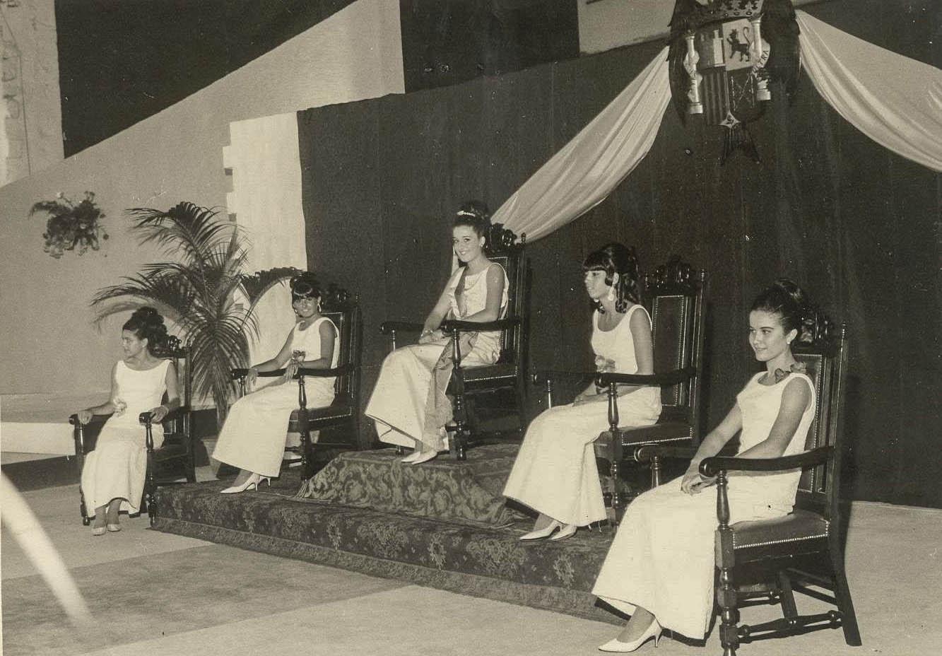 Fiestas de Julio de 1967 - Reina Candelaria Rodríguez Rodriguez