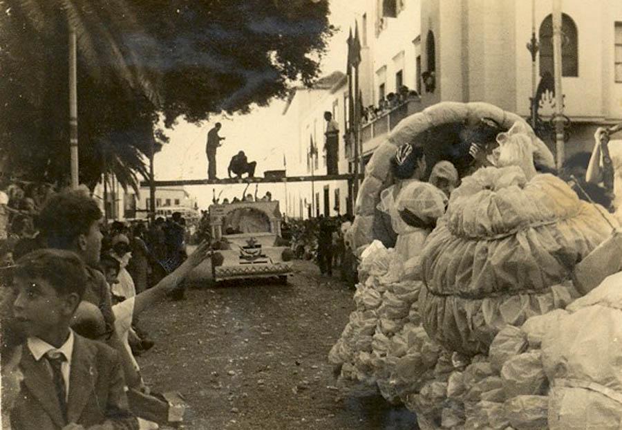 Fiestas de Julio en los años 40 - Carrera de sortijas