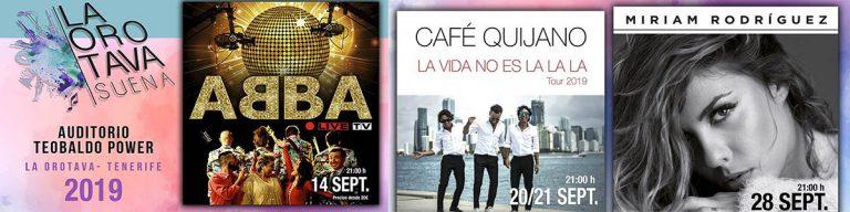 Café Quijano y Miriam Rodríguez en septiembre en La Orotava