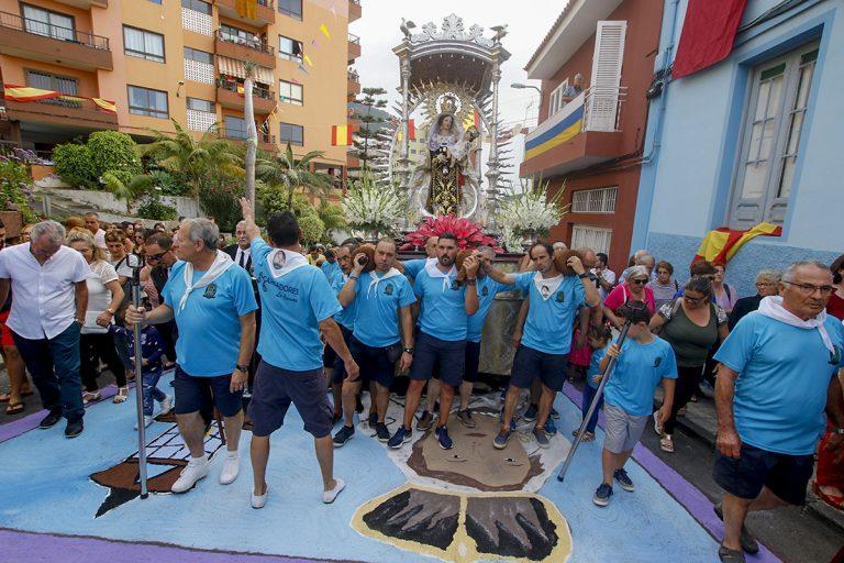 La Virgen del Carmen llega este domingo al núcleo de La Carrera en Los Realejos