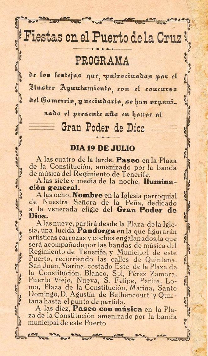 Programa de las Fiestas 1913