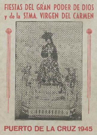 Programa de las Fiestas de Julio en 1945