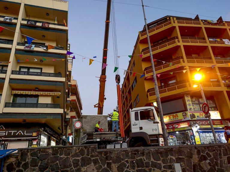 Se colocó la nueva estación eléctrica transformadora en la calle San Juan