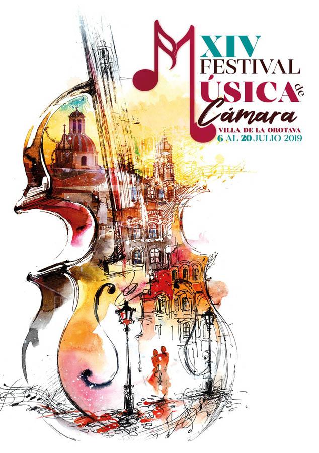 Cartel del XIV Festival de Musica de Cámara de La Orotava