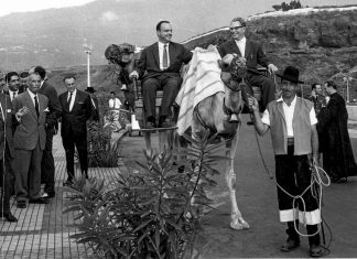 Visita de Manuel Fraga al Puerto de la Cruz