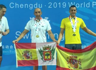 José Báez en el número 1 del podio de una de las pruebas