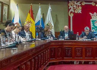 Imagen de la zona del grupo de gobierno en un anterior pleno.