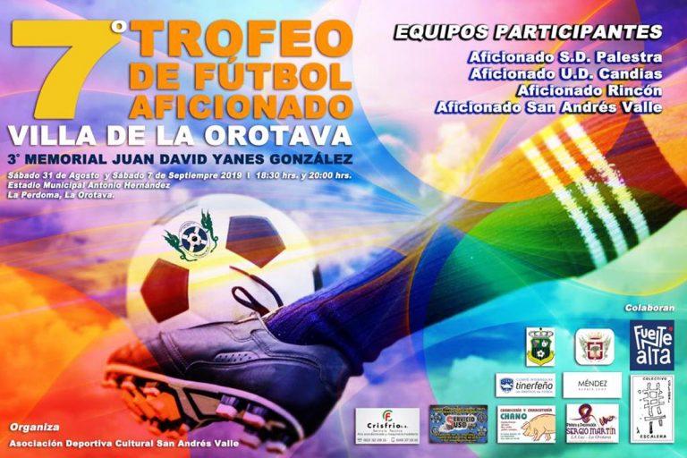A final de mes llega el VII Trofeo de Fútbol Aficionado Villa de La Orotava
