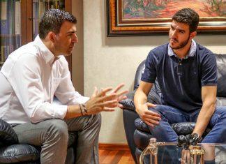 Recepción al jugador de baloncesto ACB Sergio Rodríguez