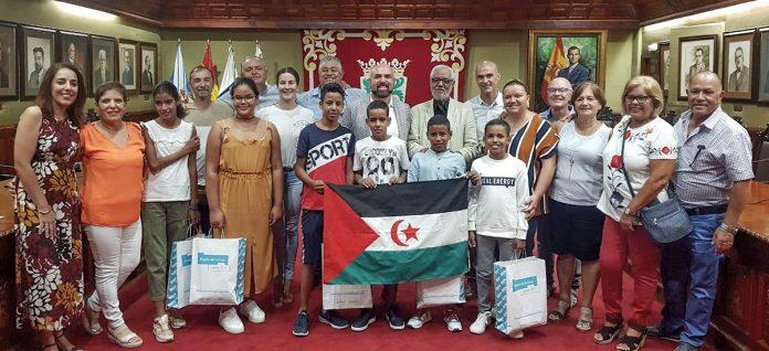 Recepcion a niños saharahuis