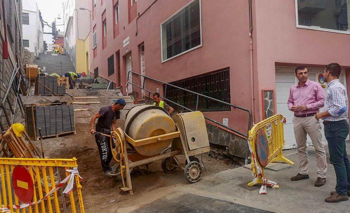 Rehabilitación peatonal El Cantillo en el Realejo Alto
