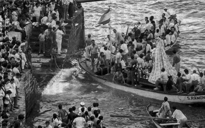 Embarcación de la Virgen en 1959