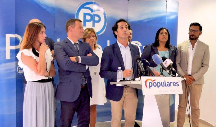 Vista general de la rueda de prensa del PP