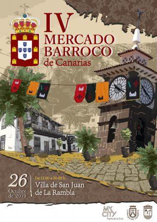 Cartel del IV Mercado Barroco de Canarias