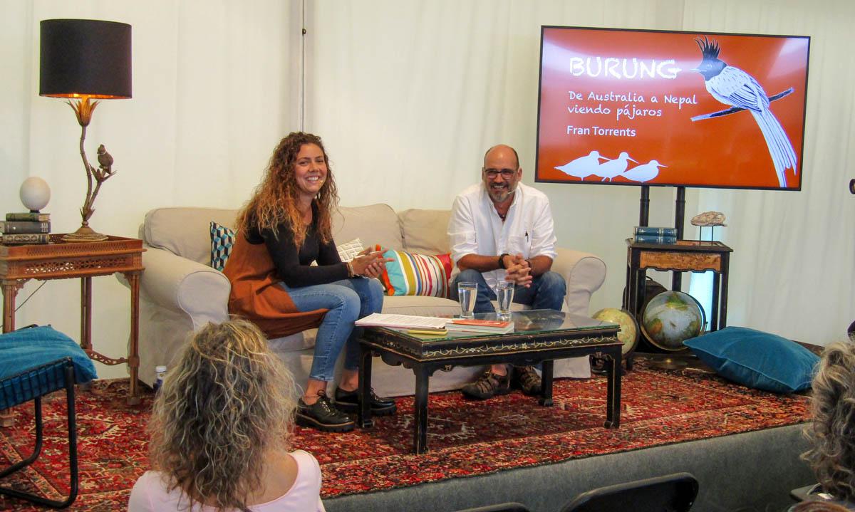 Leticia Dorta y el escritor Fran Torrents