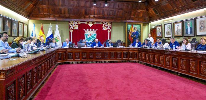 Vista del Pleno del 28 de octubre en el Ayuntamiento del Puerto de la Cruz