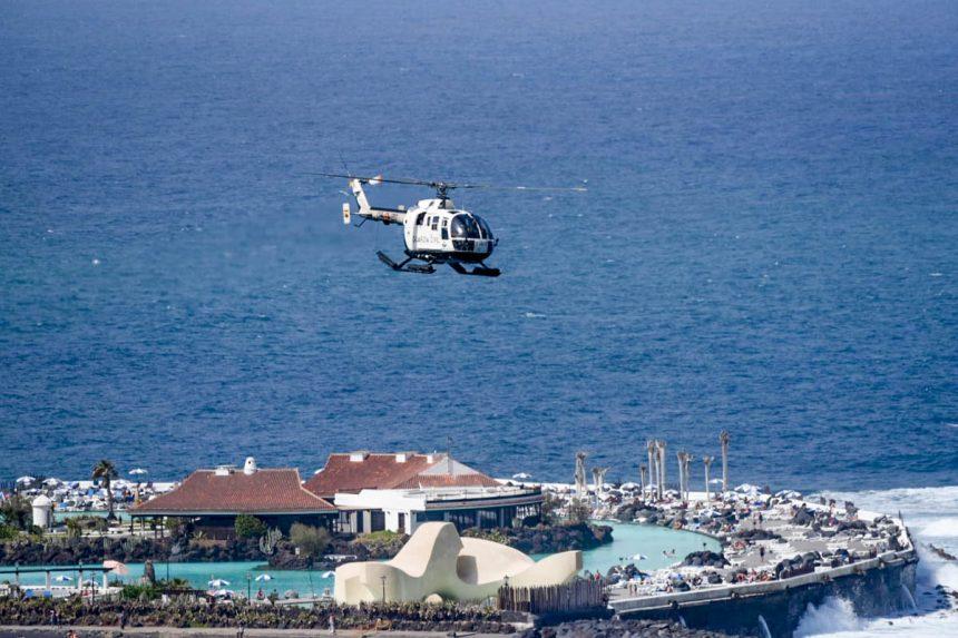 Helicóptero de la Guardia Civil. Foto: Moisés Pérez