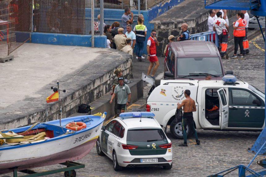 Efectivos de la Guardia Civil que actuaron en las tareas de búsqueda (Foto: Moisés Pérez)