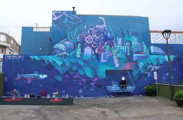 Mural festival arte urbano 6 de 12 en Las Toscas artista Feo Flip