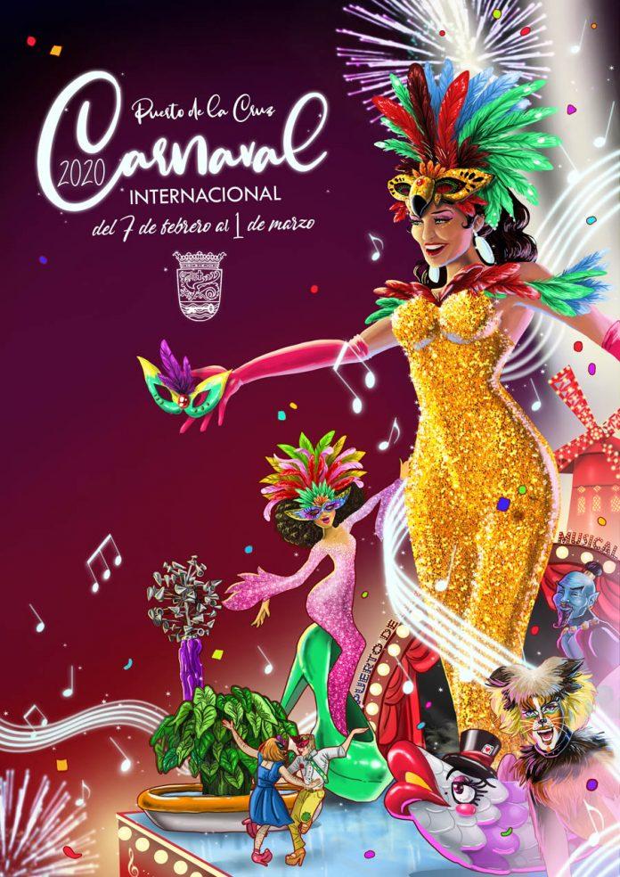 Cartel del Carnaval 2020 del Puerto de la Cruz