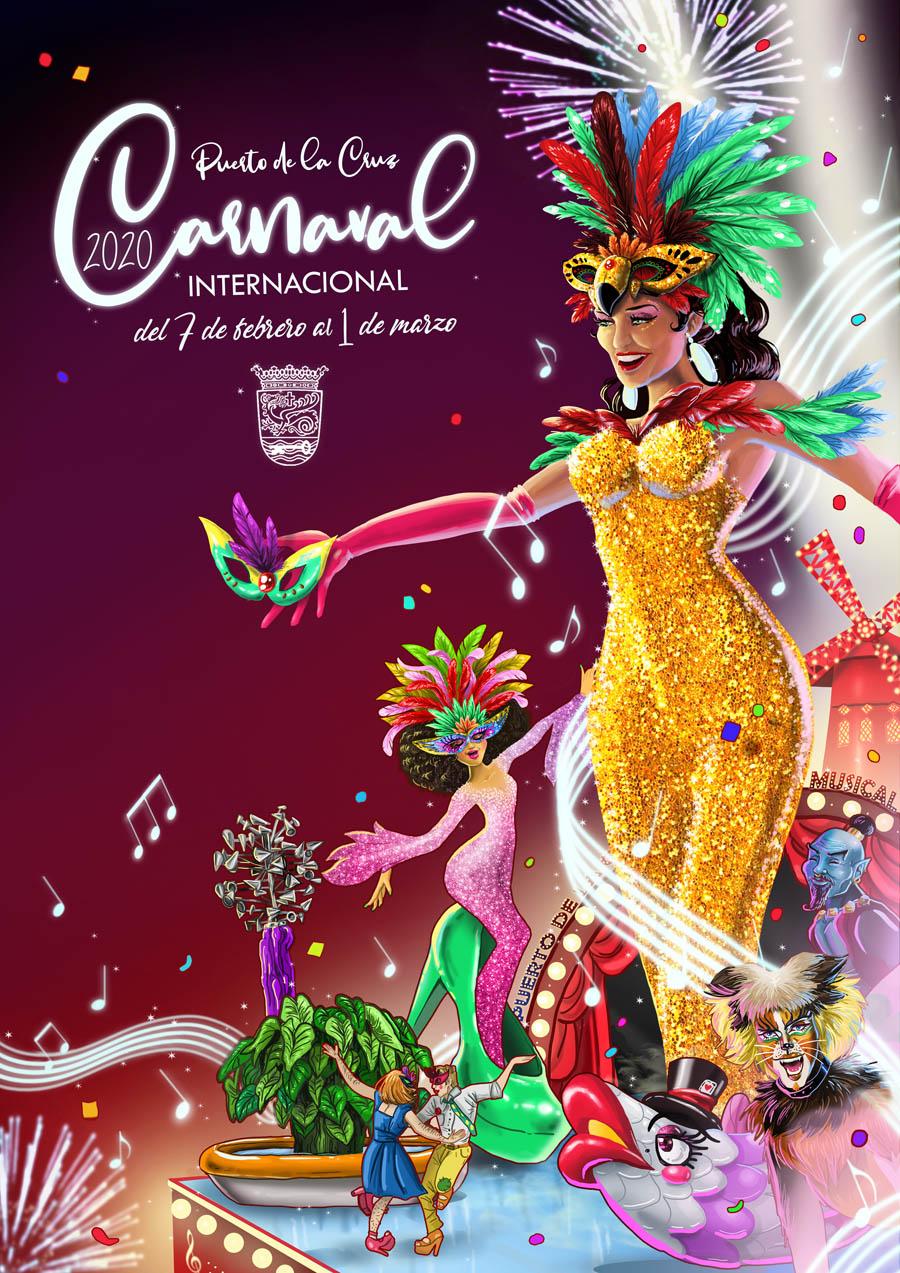 Resultado de imagen de cartel carnaval puerto de la cruz 2020