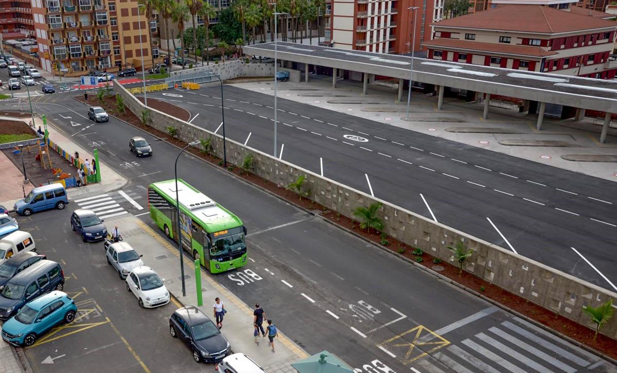 Estación de Guaguas desde la Avenida Fernandez Perdigón