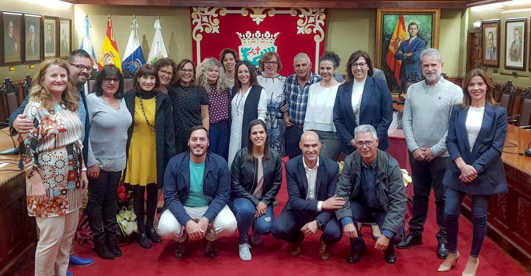 Acto de homenaje a profesores que se jubilaron en 2019 en Puerto de la Cruz