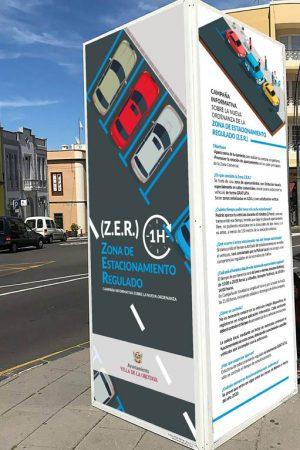 Cartelería informativa de la ZER