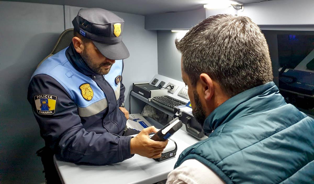 Etilometro Policía Municipal de La Orotava