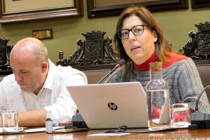 Sandra Rodríguez interviene en el pleno del mes de noviembre de 2019