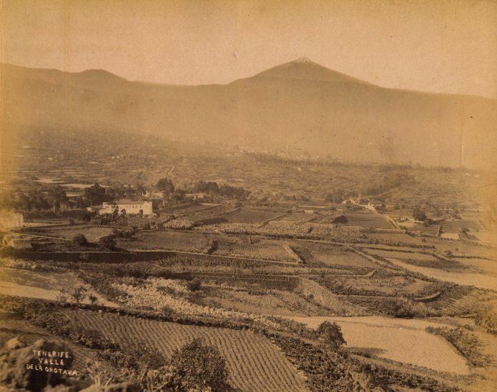 Fotografía antigua del Valle de La Orotava