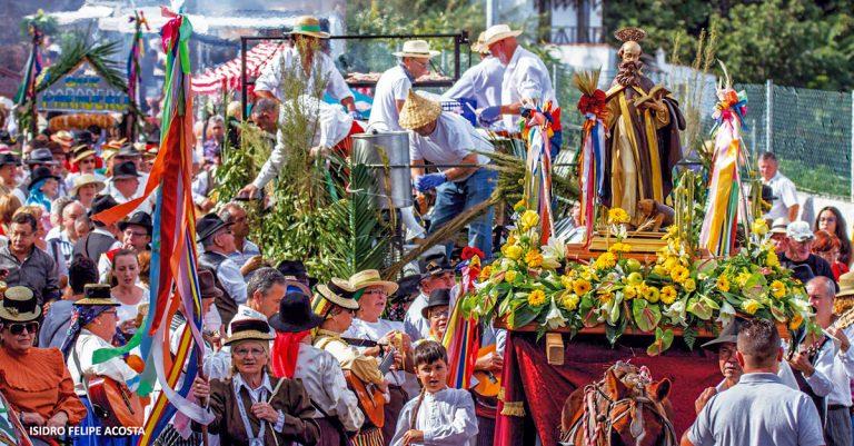 El domingo llega a Los Realejos la romería en honor a San Antonio Abad
