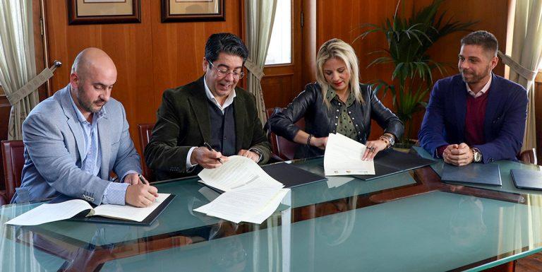 Se firma un convenio entre el Cabildo de Tenerife, El Tanque y Los Silos para el uso del depósito de aguas de Erjos