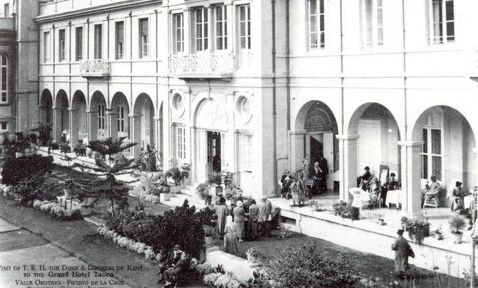 El Hotel Taoro en sus comienzos.