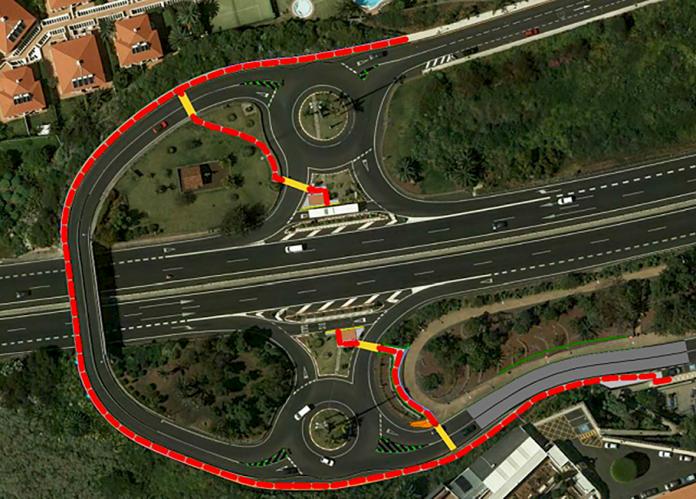 Plano del proyecto de itinerario peatonal entre las paradas de La Quinta