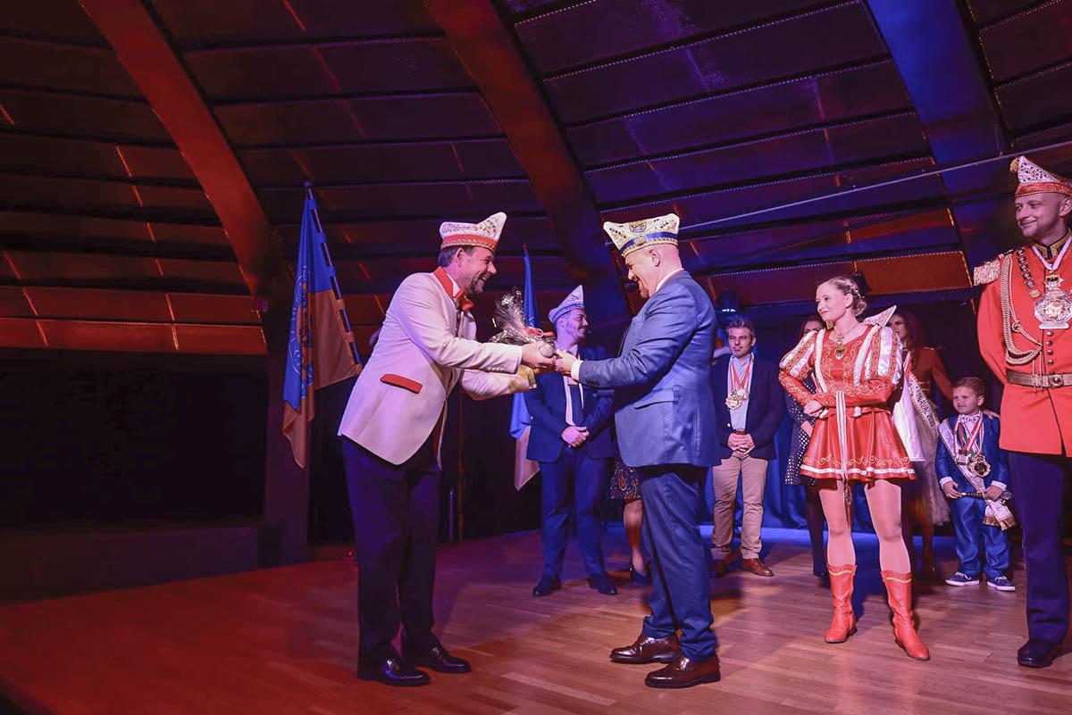 Recepción a las delegaciones del Carnaval alemán en la Sala Andrómeda 1