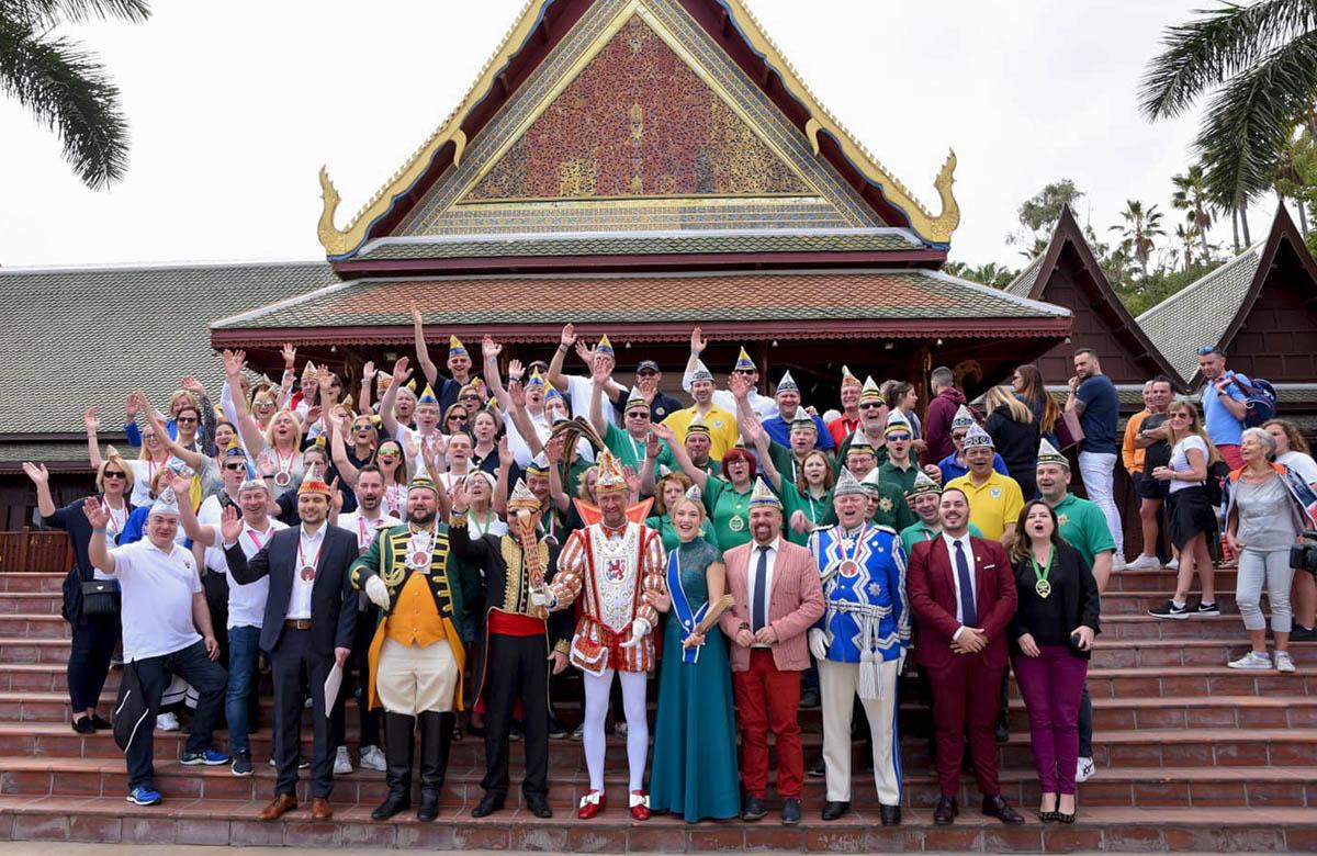 Recepcion a las delegaciones del Carnaval alemán en Loro Parque