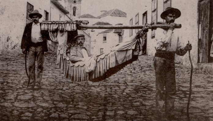 Imagen costumbrista en el Puerto de la Cruz