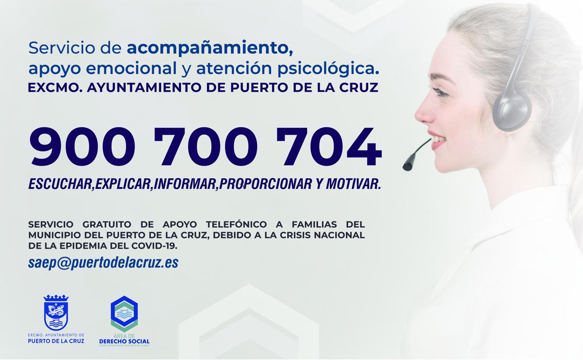 Servicio de apoyo emocional del Ayuntamiento del Puerto de la Cruz