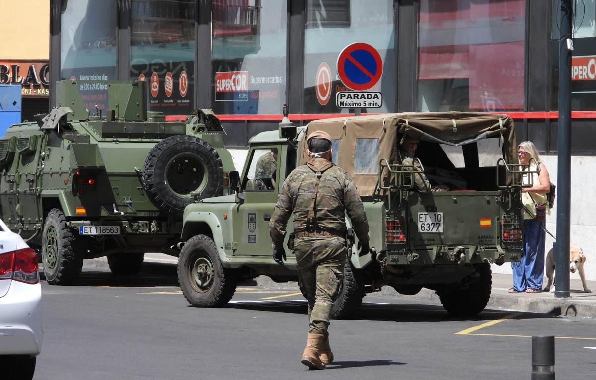 Efectivos del Ejército en la Plaza del Charco del Puerto de la Cruz