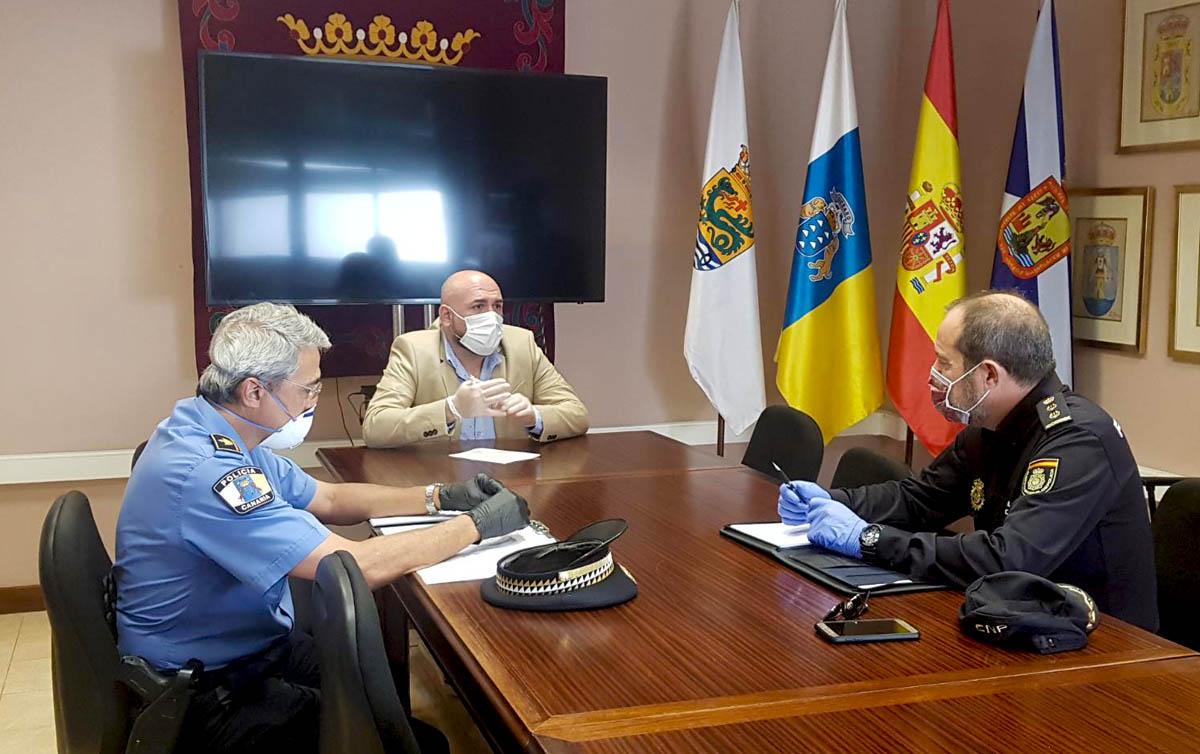 Reunion de seguridad en el Ayuntamiento del Puerto de la Cruz
