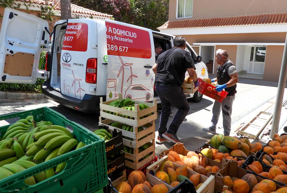 Tareas de gestion de alimentos de la Fundación José Luis Montesinos