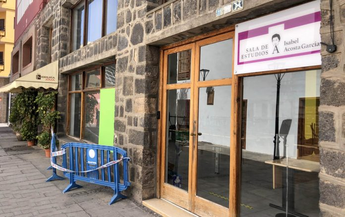 Sala de Estudios cerrada durante el estado de alarma