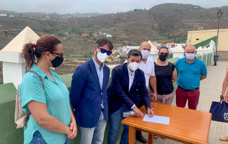 Comienzan las obras que solucionarán el problema de agua de abasto de Santa Catalina en La Guancha