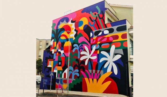 Nuevo mural festival Seis de Doce en La Montaña autor 3ttman