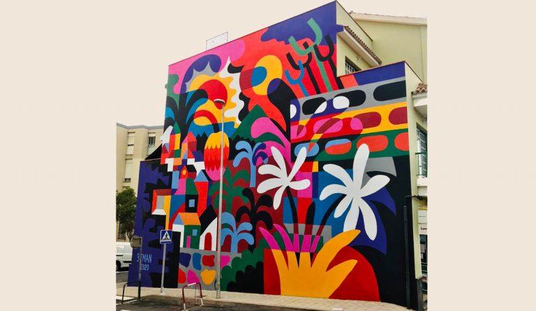 Un nuevo mural del artista francés 3ttman en la Zona de La Montaña en Los Realejos